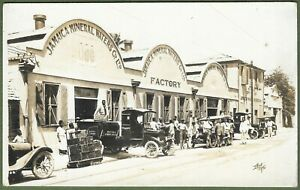 Jamaica Mineral Waters Co Ltd Factory, Delivery Trucks, Workers Superb RP c1920s