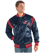 STARTER NHL Columbus Blue Jackets Men's The Enforcer Retro Satin Jacket, 4XL,