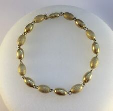 "9ct Gold Polished and Stardust Bracelet  0.6cm Wide  8.25"" Length  4.8g   NEW"