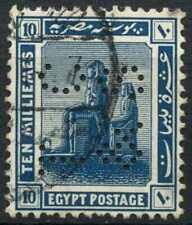 """Egypt 1921-2 SG#92, 10m Blue, """"TC&S"""" Used #D90703"""
