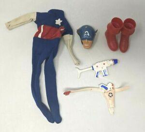 VTG 1966 Ideal Toys Captain Action Captain America Figure Accessories & Outfit