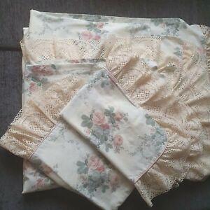 Dorma Chestnut Hill retro Double Duvet Cover, pillowcases. Frilled Cottagecore.