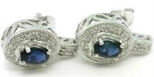 White Sapphire Fine Earrings