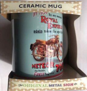 Ceramic Boxed Classic Motorcycle Motorbike Mug Royal Enfield Meteor 700