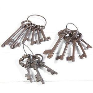 ANTIQUE STYLE KEYS CAST IRON VINTAGE SHABBY CHIC METAL DECOR GIFT OLD