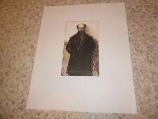 1932.Portrait de Paul Verlaine sur chine.Aman-Jean (Jules Germain)