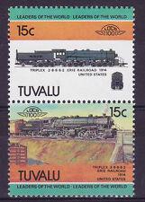 TUVALU LOCO 100 TRIPLEX ERIE RAILROAD LOCOMOTIVE US STAMPS MNH