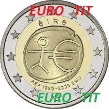 2 €    IRLANDE   COMMEMORATIVE   2009    1  X  PIECE   10 ANS  UNION  ECONOMIQUE