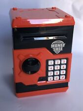 SAVINGS MONEY BOX FOR KIDS  RED SAFE  NOTE FEED & SOUND EFFECTS