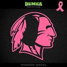 """Redskins NFL -  Breast Cancer Awareness Pink Vinyl Sticker Decal 5"""""""