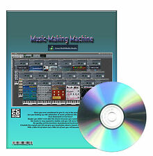 Pro Music-Making Virtual Machine Beat Creator Midi Windows XP Vista 7 CDROM