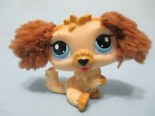 Littlest Pet Shop 2421 Labradoodle Tan Brown Puppy Dog Fuzzy Ears Authentic