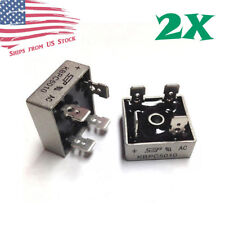 2Pcs 1000V 50A Metal Case Single Phase Diode Bridge Rectifier KBPC5010 USA