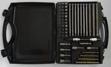 55-PIECE DRILL BIT & NUT DRIVER SET IN CASE ~ Flexible Hex & Socket Adapter Torx
