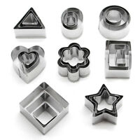 24x Stainless Steel Round Circle Cookie Cutter Fondant Cake Paste Mould Set YA9