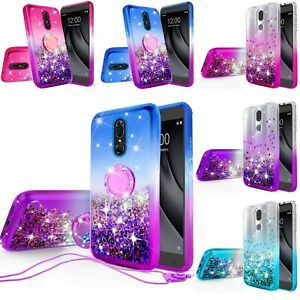 For Coolpad Legacy/Alchemy Hybrid Liquid Glitter Diamond Bling Phone Case Cover
