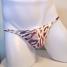 Made in Japan Sexy Mens Animal Printed Bikini Briefs Pink