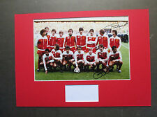 LIVERPOOL JIMMY CASE & TERRY McDERMOTT SIGNED A3 MOUNTED PHOTO DISPLAY - PROOF