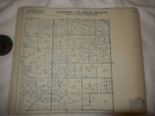 Vintage Franklin  County Kennewick Wa. Township Metsker Ownership Plot Map