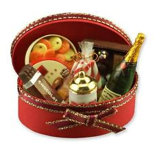 DOLLHOUSE Champagne Gift Set 14098 Reutter Cookies Chocolate Oval Case Miniature