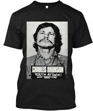 NWT Charles Bronson Youth Attack! American Actor Musician Logo T-SHIRT M-3XL