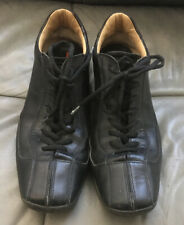 Prada Sneakers Black Leather Size 11 Made In Italy