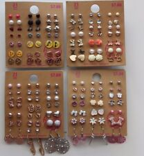 Lot of 84 Pairs of Stud and Dangle Earrings Hypo Allergenic New - lot I