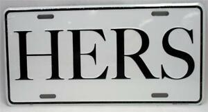 HERS Aluminum Novelty Vanity License Plate Car Truck Tag Wife Woman Auto
