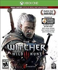 THE WITCHER 3 WILD HUNT with BONUS  WORLD MAP & STICKERS * XBOX ONE * BRAND NEW!