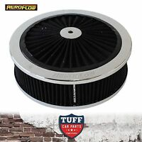 "Aeroflow Chrome Full Flow Air Cleaner Assembly 9"" x 2-34"" with Washable Filter"