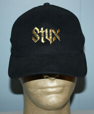 Vintage Rock Band Styx Gold Embroidered Black Snapback Hat Cap