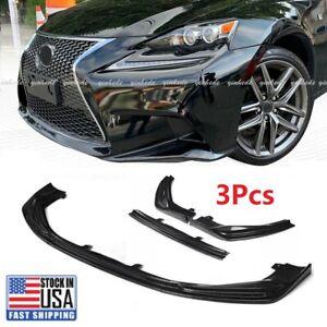 Carbon Fiber Front Bumper Lip Spoiler For Lexus IS250 350 200T F-Sport 2014-2016