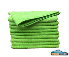 20x Microfasertücher 40x40 cm Micofaser Tuch sehr saugstark Mikrofasertuch Grün