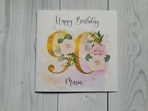 Age 90 Birthday, 90th, Birthday card, personalised, free postage