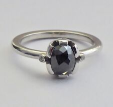 Stunning Engagement Ring With High Quality & Certified .79 Carat Black Diamond