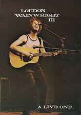 Original Loudon Wainwright III - A Live One 1979 UK Tour Programme