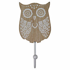 WHITE OWL HOOK - Decorative Animal Coathook Clothing Hanger home decor