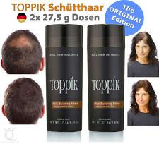 2x TOPPIK Hair Building Fibers Streuhaar Schütthaar • MITTELBRAUN / MEDIUM BROWN