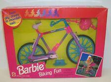 Vintage 1994 Mattel Barbie Biking Fun Bicycle Set Nrfb Mib