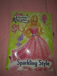 Barbie A Fashion Fairytale Sparkling Style coloring book unused guc