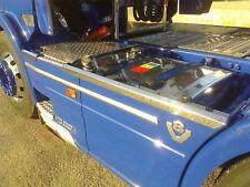 Para adaptarse a Scania Serie P G R 6 09+ 6x4 Panel Lateral Falda De Acero Inoxidable Adornos superior
