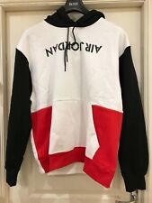 Nike air jordan AJ4 graphic men hoodie brand new with tags size XL  white / blk