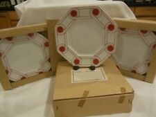 """Fitz & Floyd 8.75""""Le Continentale"""" Terracotta Salad/Dessert 12 Plate New In Box"""