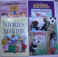 4 Children's Books: Finger Puppet Book- Bedtime Stories-Adam Raccoon-Mammals 2D7