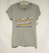 Wound Up Graphic T-Shirt Tee Gray Is ugh an emotion Short Sleeve Sz. XL 15-17
