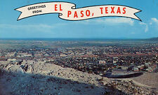 postcard USA Texas  greetings from  El Paso unposted