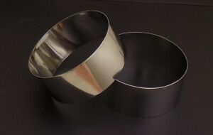 """Ltd Use! Pair of 1.5""""/3.75cm Stainless Steel ROSTI RINGS in Very Good Condition"""