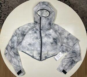 NWT Men's Nike Tech Pack Transform Hooded Running Jacket BV5679-094 White Gray L