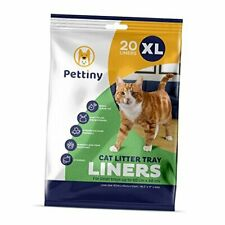 New listing Pettiny 20 Cat Litter Box Liners with Drawstrings Scratch Resistant Cat Litter B