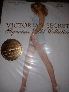Vintage Victoria Secret Signature Gold Collection Stay-Up Stockings, Medium